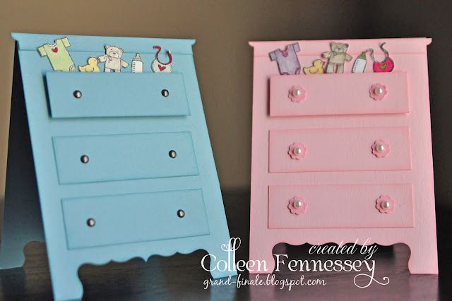 I especially love this chest of drawers card! Awesome card making ideas from this grand-finale studio blog