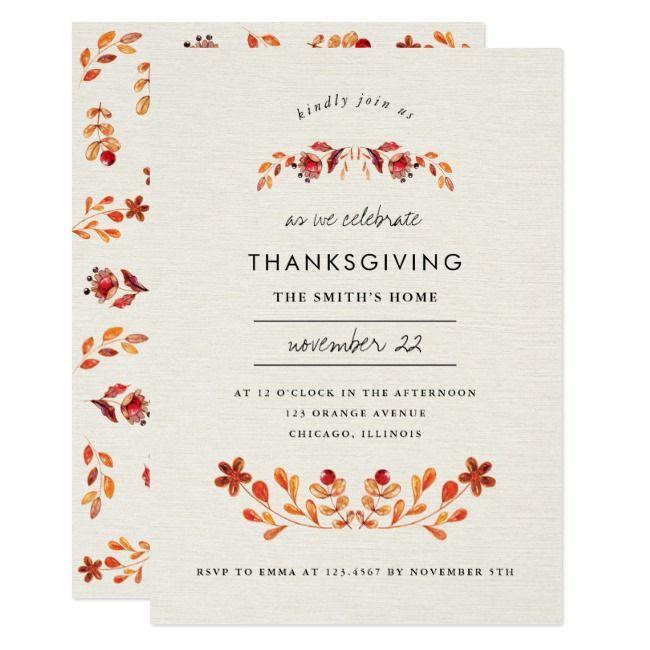 Create Your Own Invitation Zazzle Com In 2020 Party Invitations Thanksgiving Parties Thanksgiving Invitation