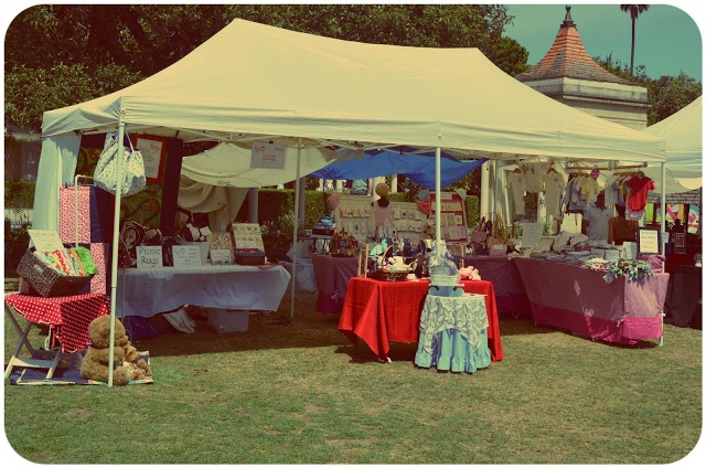 Our combined stall at the annual Teddy Bear's Picnic, Ripponlea Estate, Feb 2013 || #Melbourne #market #events #kids #estate #historic #Ripponlea #teddy #vintage #minkyminx