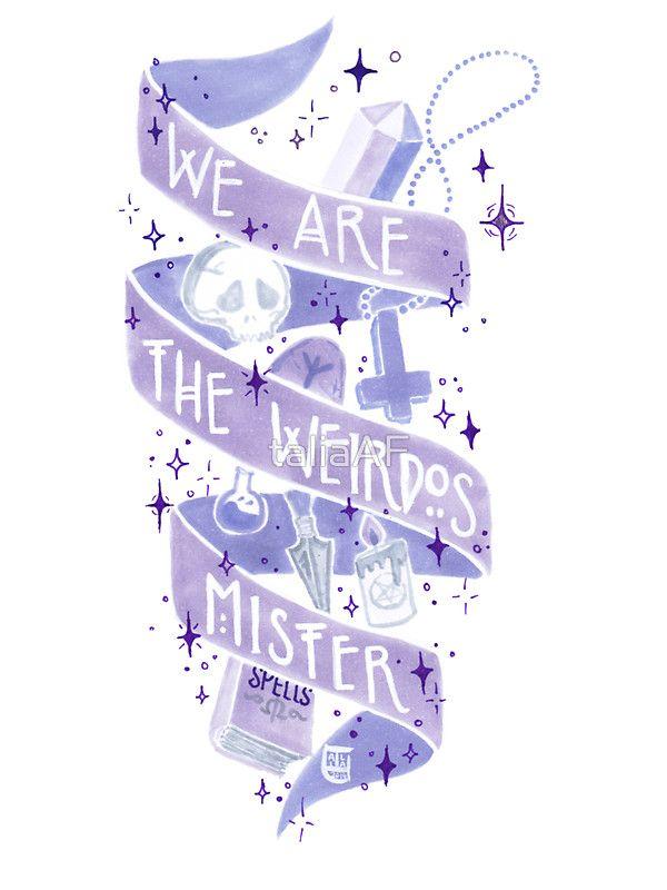 We Are The Weirdos by taliaAF, pastel goth Craft sticker