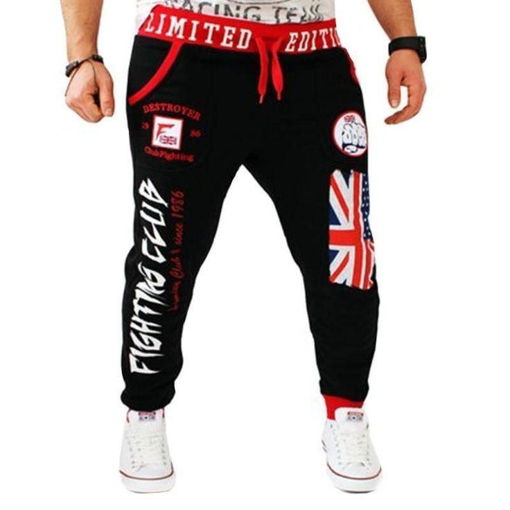 Fashion Men Joggers Men's Trousers Loose Casual Printed Men Jogger Pants