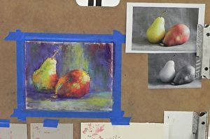 """""""Teaching Pastel: from total beginner to finished painting in 3 short hours!"""" I recently taught an art class as part of an """"art sampler"""" class. Check out my blog post about it!  www.daggistudio.com #demo #pastelpainting #beginner #introductory #DaggiWallace"""