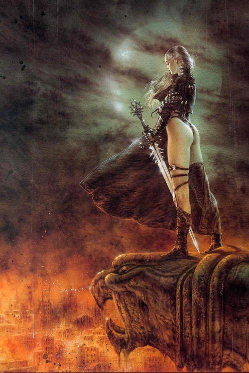 Womens nude fantasy art