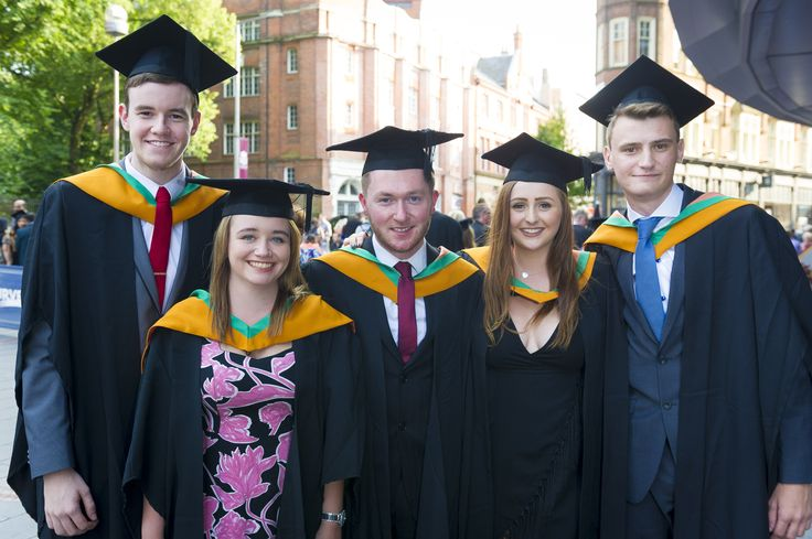 A group of summer graduates celebrate on 17 July 2015.