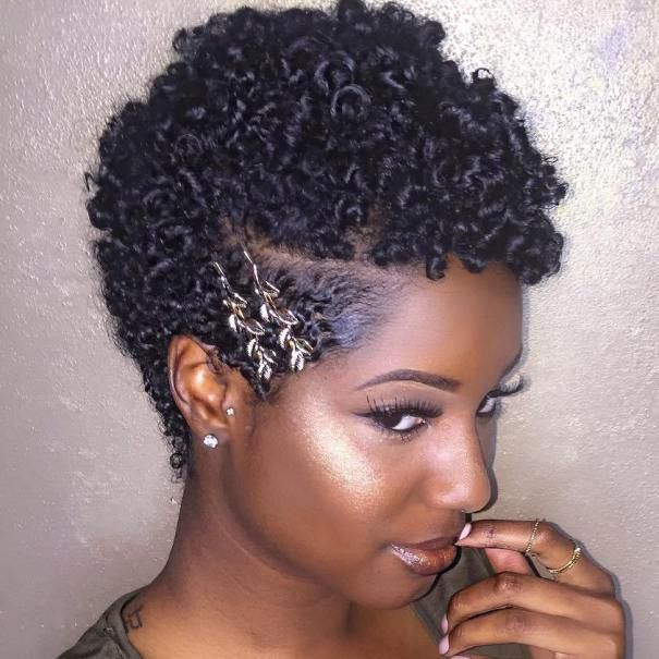 Curly Black Hairstyle For Short Hair