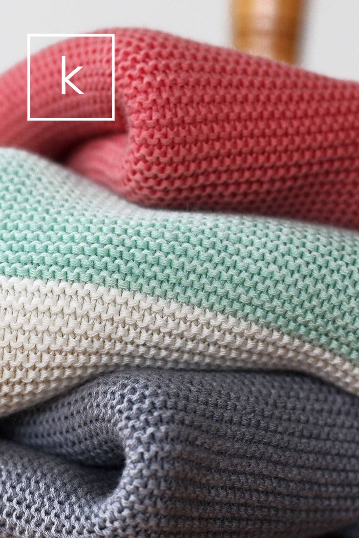 Baby's First Blanket, knit in 100% Egyptian Cotton | koko's nest This color combo!!!