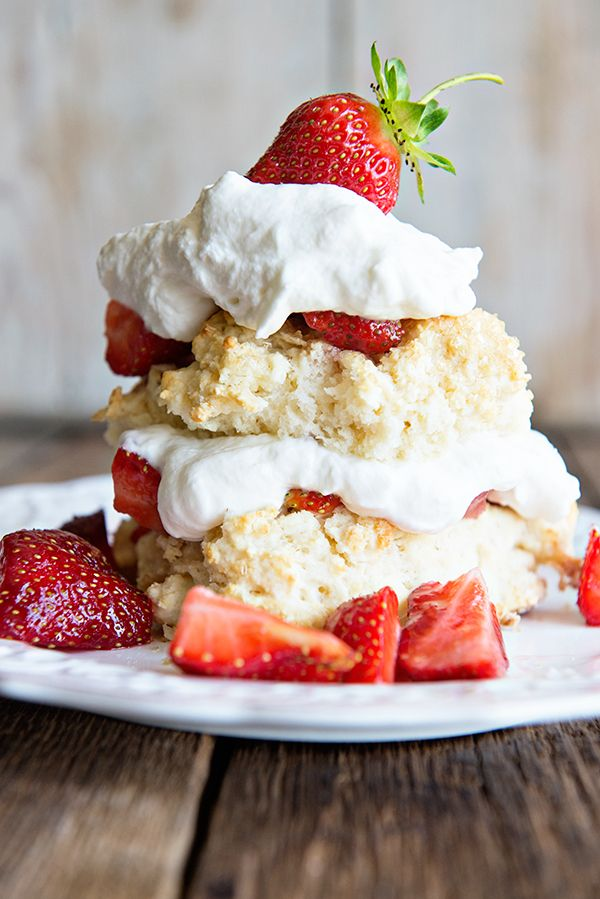 Homemade Strawberry Shortcake with Grand Mariner Whipped Cream
