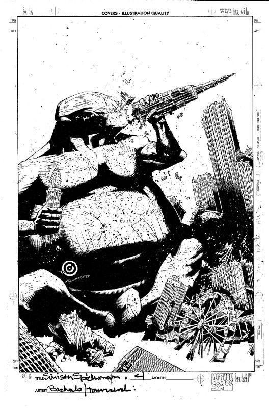 Dark Reign: Sinister Spider-Man #4 Cover by Chris Bachalo & Tim Townsend / Venom Comic Art