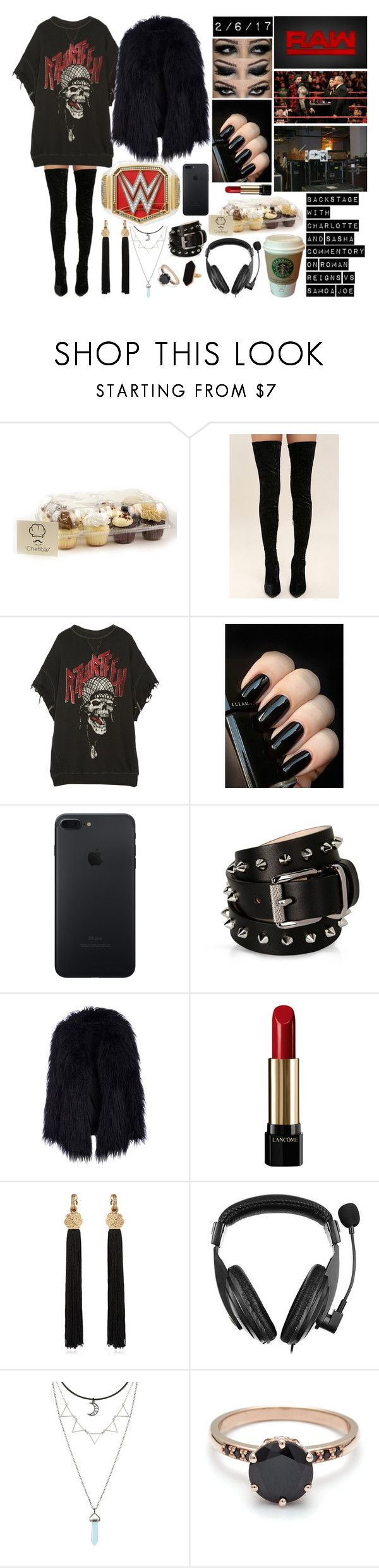 """Bez tytułu #1105"" by kereneza ❤ liked on Polyvore featuring WWE, Cape Robbin, R13, mel, Barbara Bui, Lancôme, MANGO, Yves Saint Laurent, Insten and Jaeger"