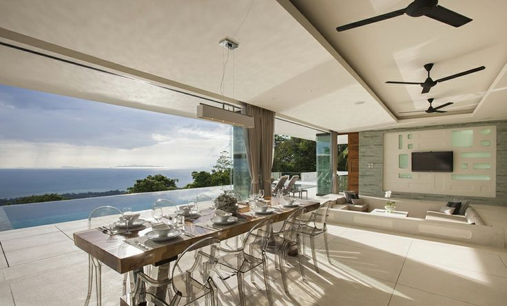 White Design Villa 4   Koh Samui - Essen und Aussicht ein Genuss © Lesley Fisher. All Rights Reserved.