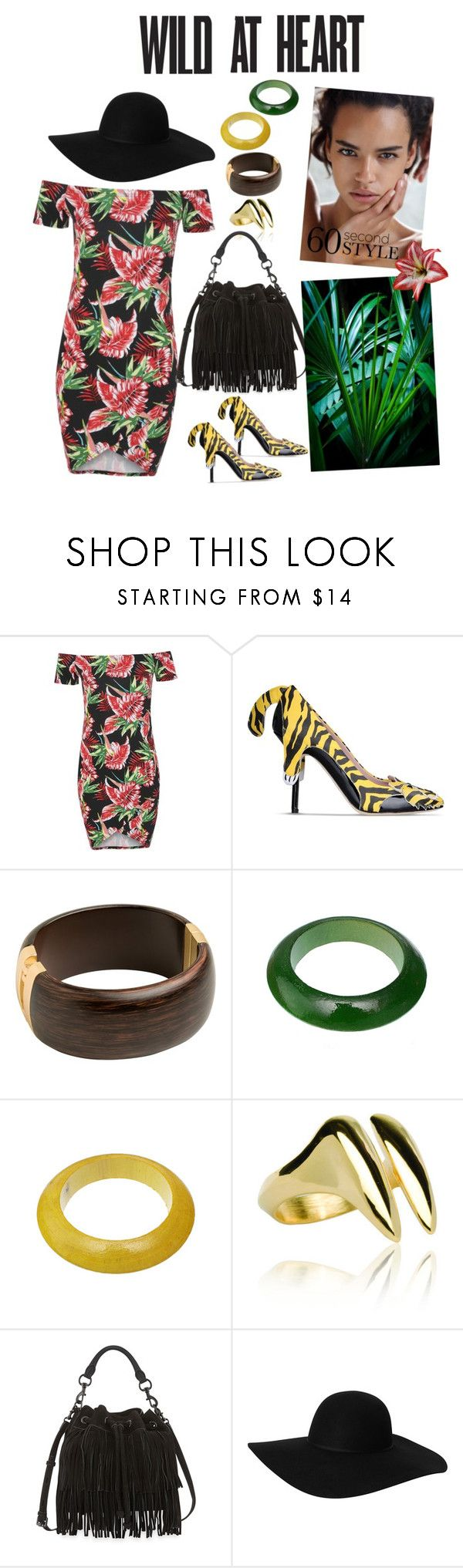 """Tropical"" by julie4ever ❤ liked on Polyvore featuring Boohoo, Moschino Cheap & Chic, Katie Rowland, Rebecca Minkoff, Monki, tropical, hot, Exotic and summerfashion"
