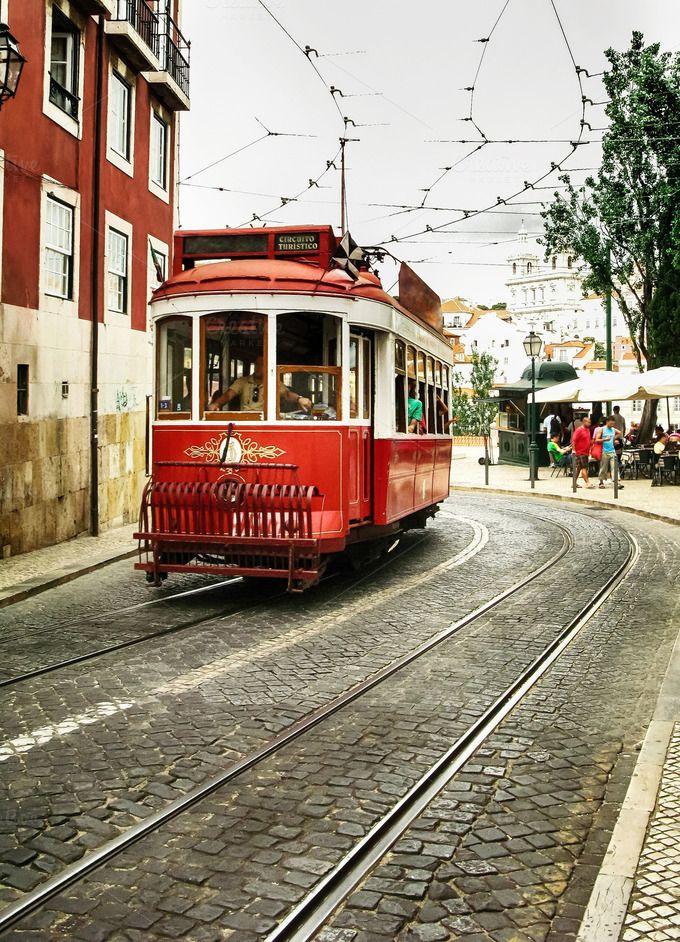 Old tram of Lisbon by JCB Photogr@phic on @creativemarket