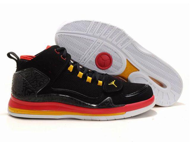 Chaussures Air Jordan Evolution 85 Noir Rouge Jaune nike10101  5687