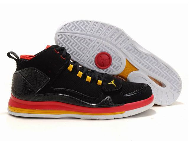 hot sale online 76812 c4afc ... discount chaussures air jordan evolution 85 noir rouge jaune nike10101  56.87 4408d 9bba4