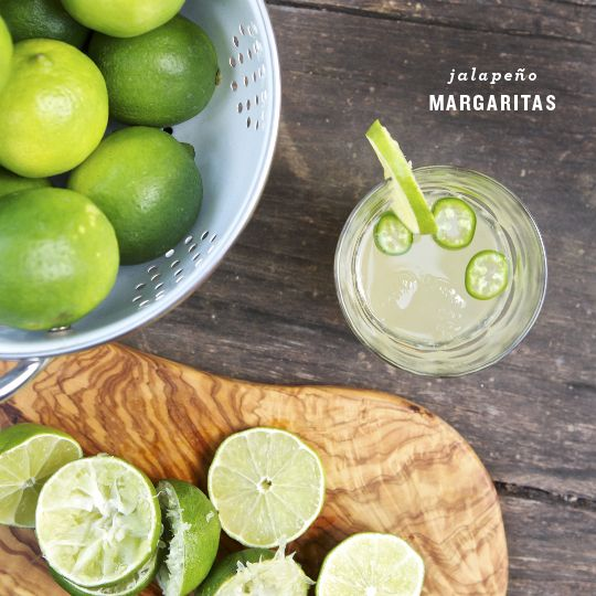 spicy jalapeno margaritas - Love and Lemons
