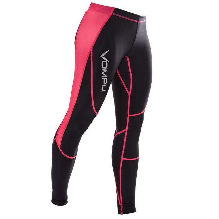 Women's OMPU Multisport Compression Tights, black/pink