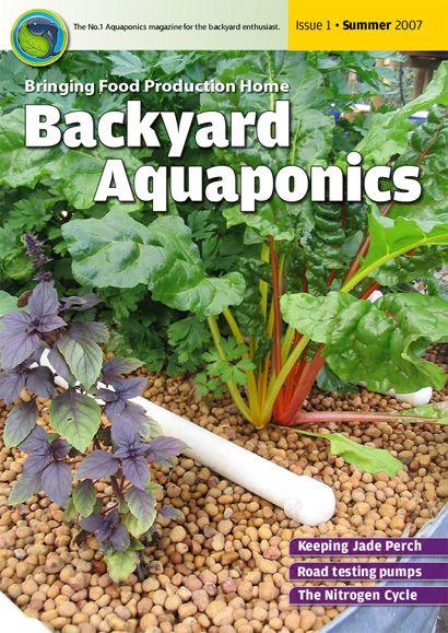 Free eMagazine....Backyard Aquaponics eMagazine Ed. 1 Cover