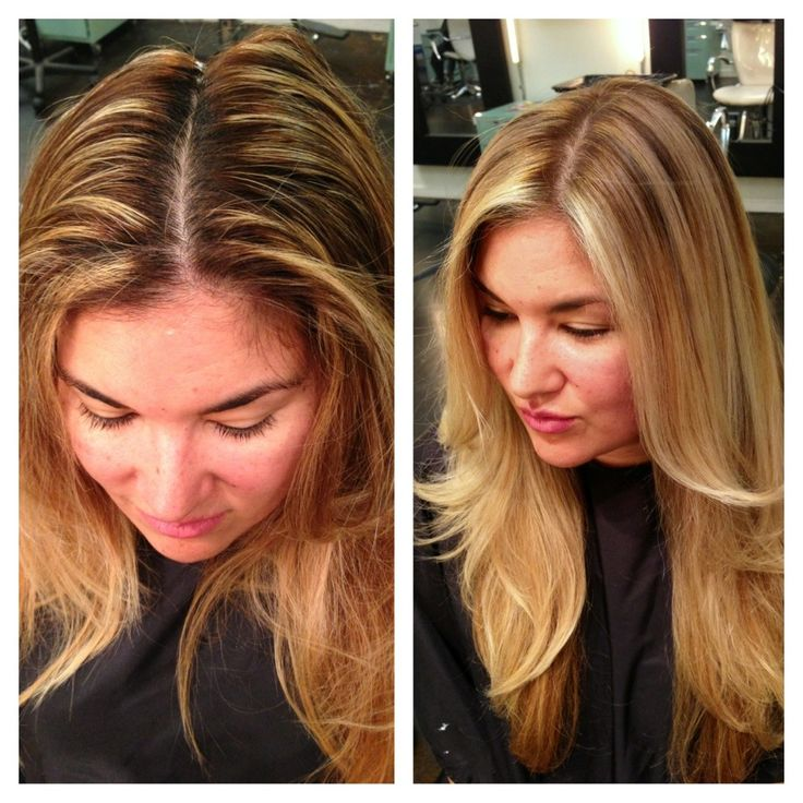 Blonde specialist, Stylist Andrea Miller LeFevre #balayage #ombre. @ The Lab A Salon, San Diego. Before and after. #colorcorrection