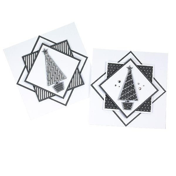 Yhdistele hopeanvärisiä ääriviivatarroja harmaasävyisiin papereihin.