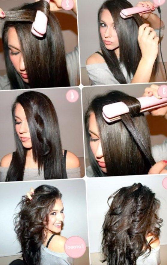 Как выпрямителем крутить волосы