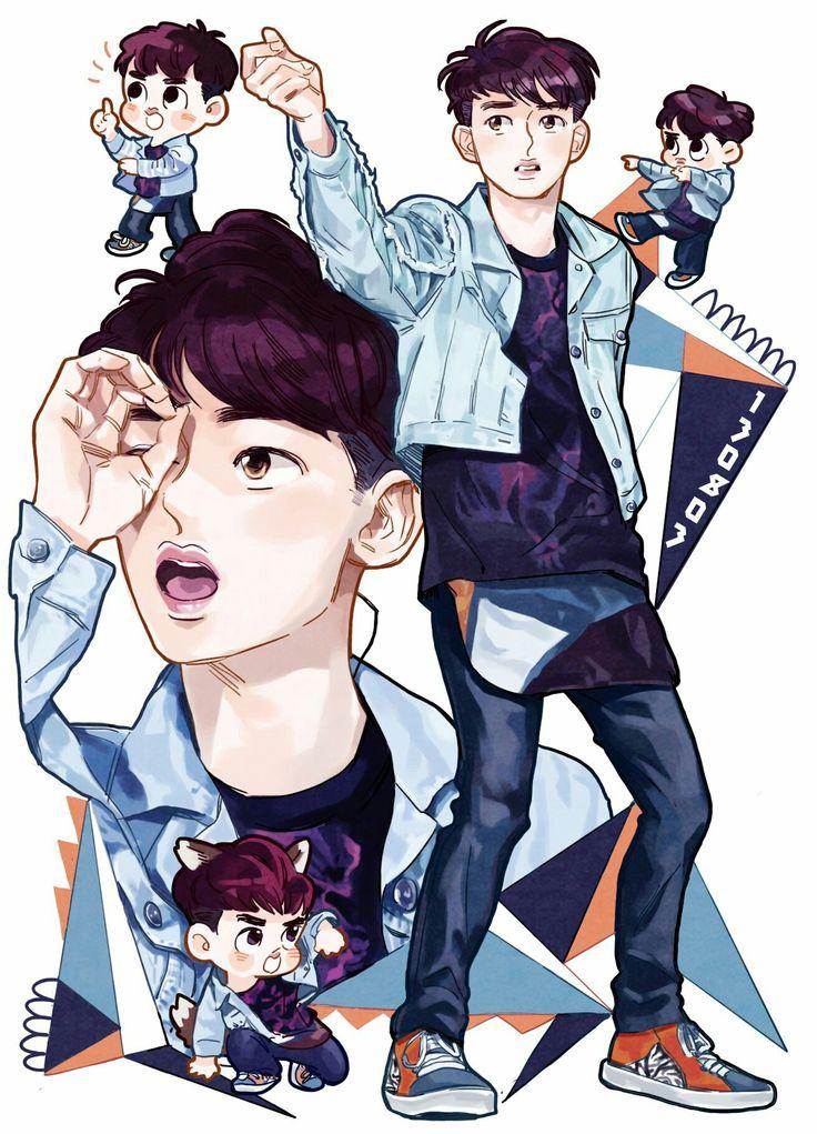 D.O. crazy.DO_closet Manga anime, Fan art, Desenhos