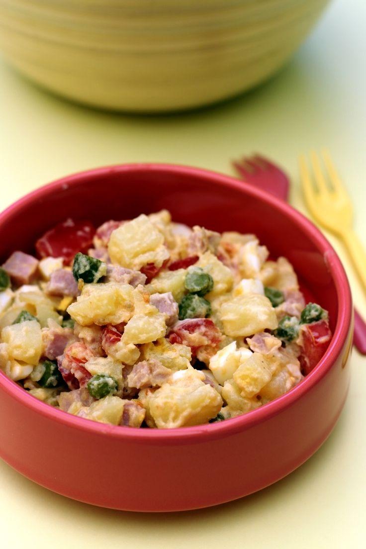 """La recette de la salade piémontais est déjà présente sur le blog, je vous propose aujourd'hui une version plus """"light"""" car il est vrai que même si la salade en elle même reste plutôt équilibrée, la sauce mayonnaise ne l'est pas vraiment ^^ Pour alléger..."""