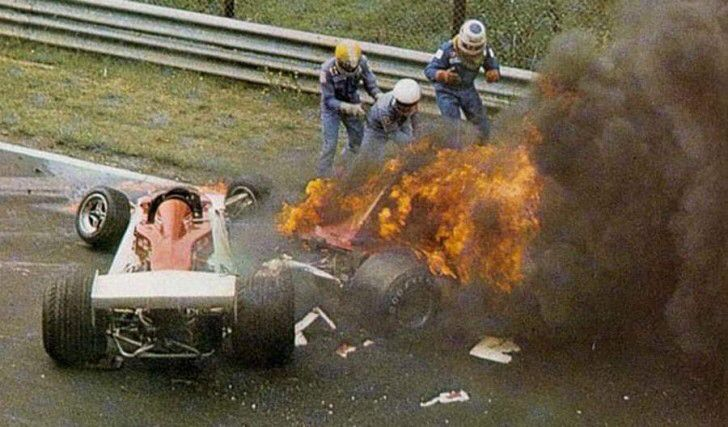 niki lauda 1976 german grand prix accident. You are big NICKY!                       LOTUS F1 2014