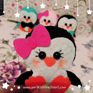 peri kızının el işleri: Keçe magnet penguen