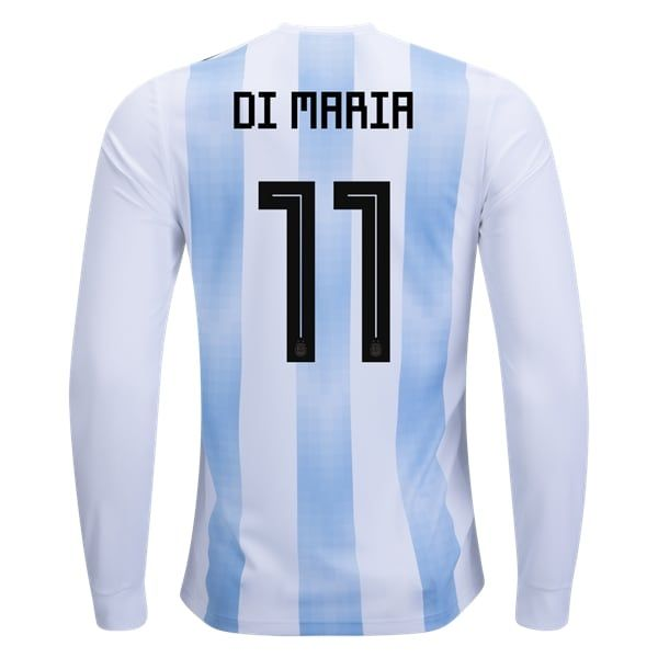adidas Angel Di Maria Argentina Long Sleeve Home Jersey 2018