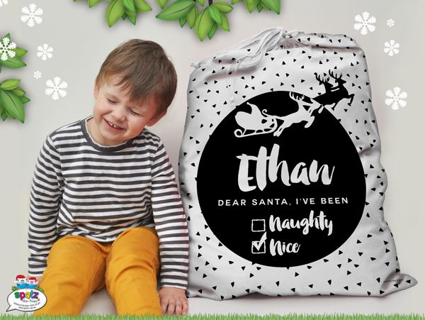 Personalised Kids Christmas Santa Sacks - SPATZ Mini Peeps®