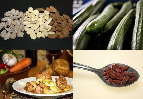 Ejemplos de alimentos alcalinos. EFE