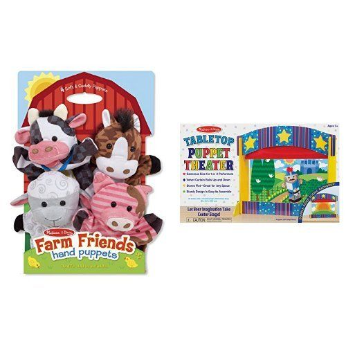 Melissa & Doug Farm Puppets & Tabletop Theater Bundle...
