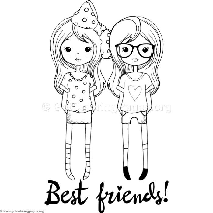 Free Instant Download Best Friends Coloring Pages Coloring Coloringbook Coloringpages Kids Coloring Pages Bear Coloring Pages Heart Coloring Pages