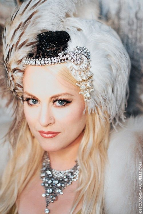 More dreamy bridal headdress magic from The Plumed Serpent   Offbeat Bride