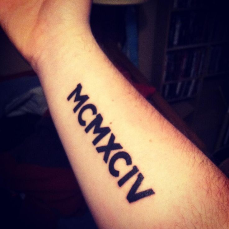 1994 in roman numerals the year angela and i got married would like it on my right lat above. Black Bedroom Furniture Sets. Home Design Ideas