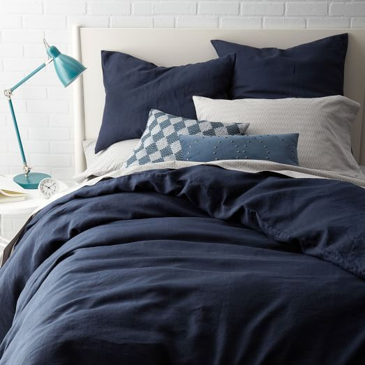 Belgian Linen Duvet Cover + Shams | West Elm