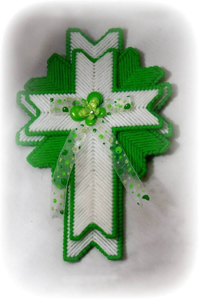 14 best plastic canvas ornament patterns images on for Cardboard crosses for crafts