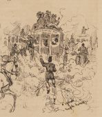 catching an omnibus in Sydney 1879