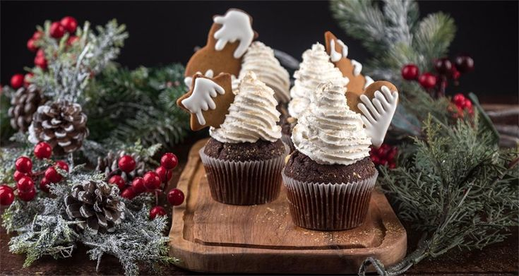 Χριστουγεννιάτικα cupcakes