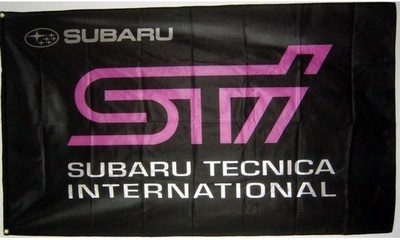 $7.99 - Worldwide Shipping.  DELUXE New SUBARU STI TECNICA INTERNATIONAL banner flag