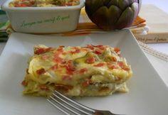 lasagna con carciofi & speck di Miele farina & fantasia