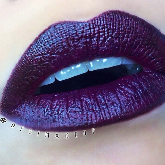 Vampy lips using milani lipstick in sangria with #MAC nightmoth lip pencil all over