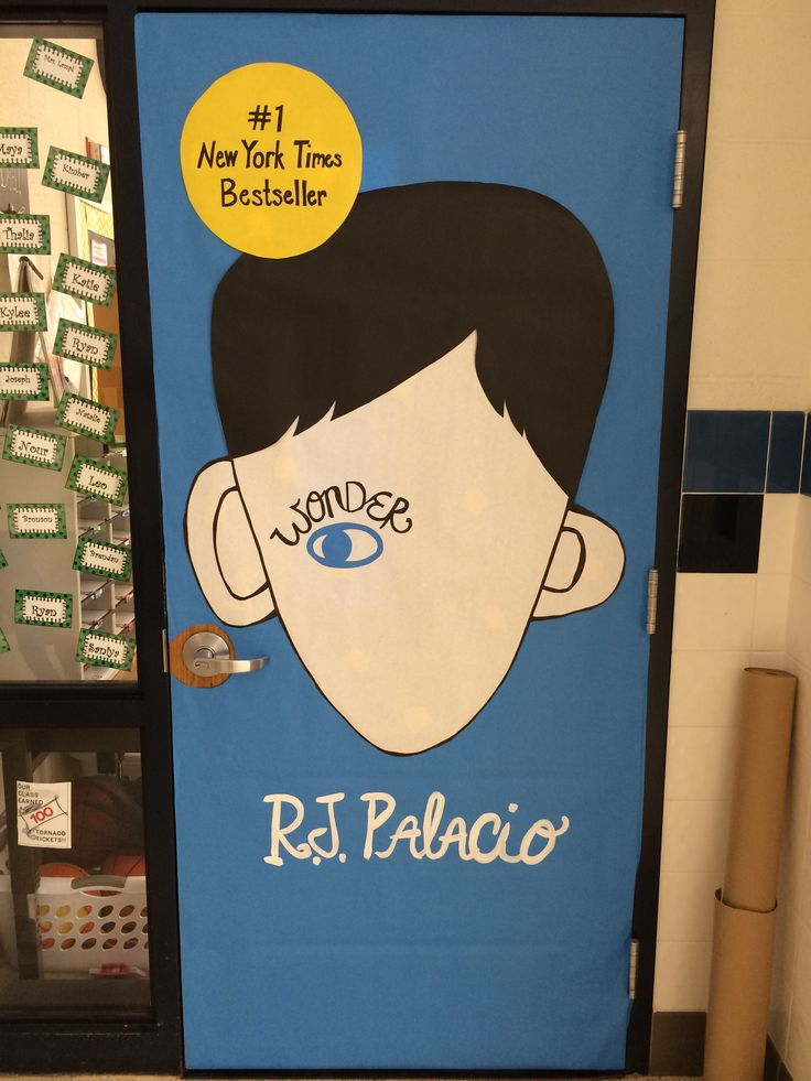 Wonder inspired classroom door! http://www.booking-it.net/door-decorating-contest/