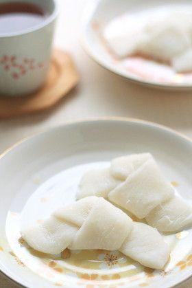 切り餅で、ちょっぴりミルキーな求肥。