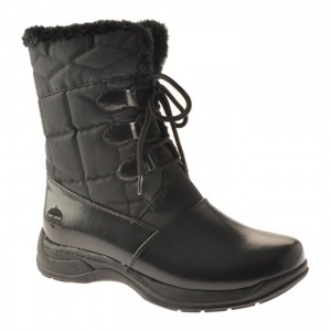 Womens Totes Karla Lace Up Boots Black Satin - ONLY $59.95