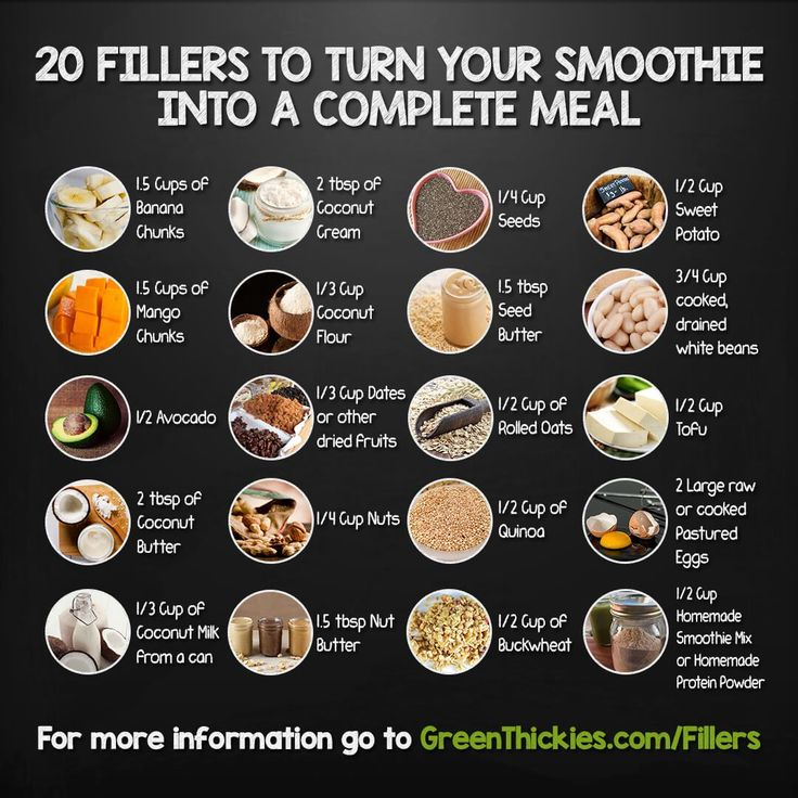 20 Fillers to turn your smoothies into complete meals for weight loss