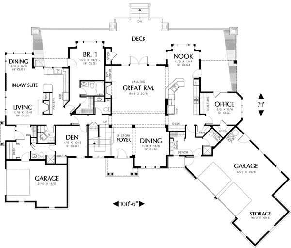 Plan 69238am Two Story Plan With In Law Suite 2nd Floor