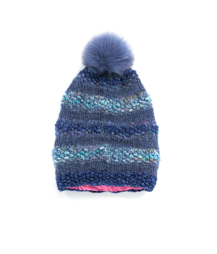 KNIT BEANIE CAP FOR WOMEN in Borealis Blue - The GŌBLE Women Knit Beanie Cap is a luxurious soft blend of merino wool, alpaca, silk and mohair HAND KNIT IN CANADA  GOBLE.CA