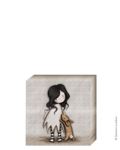 Gorjuss Canvas - I Love You Little Rabbit (20x20cm) - Santoro London