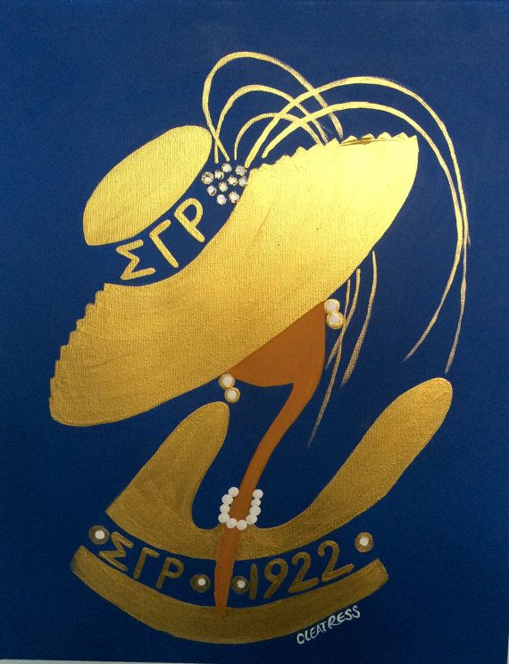 Sigma Gamma Rho Painting by ArtbyCleatress on Etsy